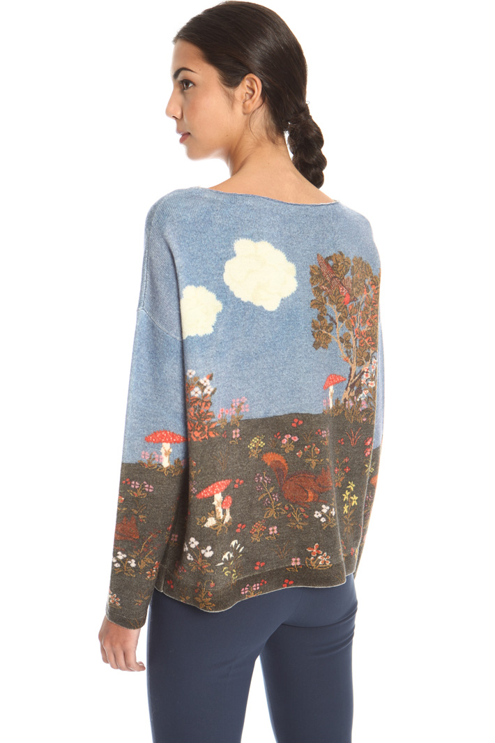 Printed wool sweater Intrend