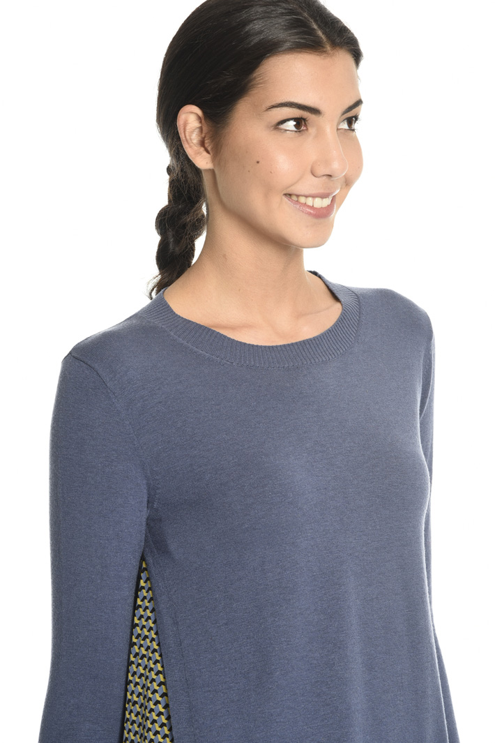 Sweater with printed insert  Intrend