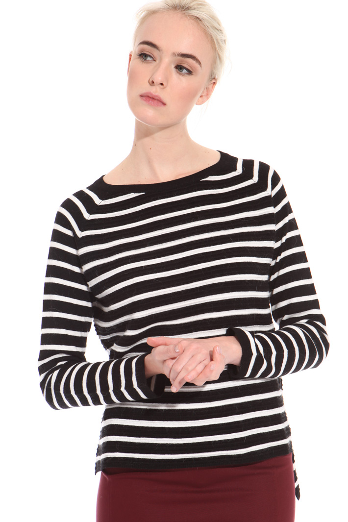 Boxy ribbed sweater  Intrend