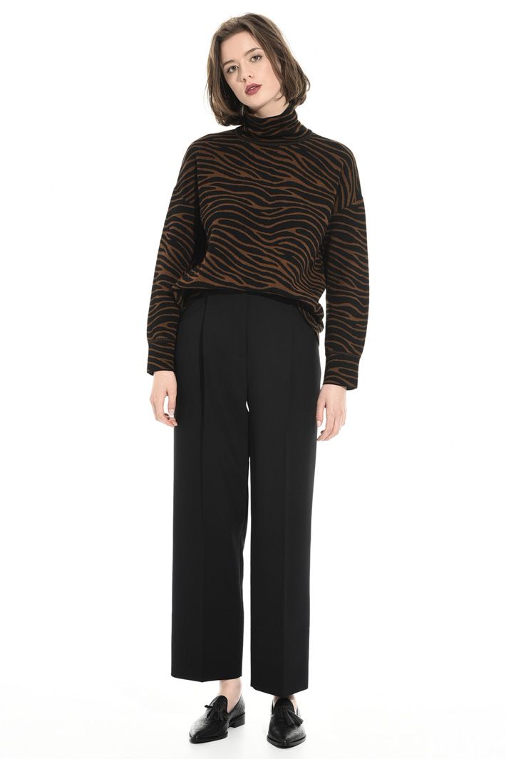 Jacquard wool sweater Intrend