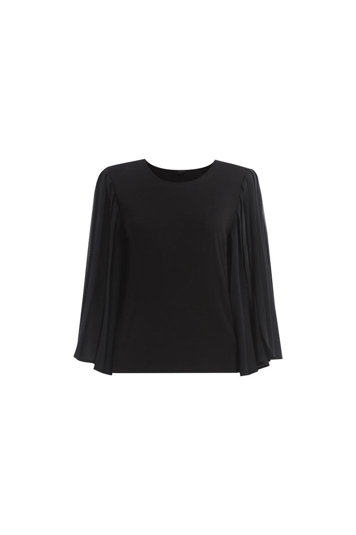 Pleated sleeve sweater Intrend