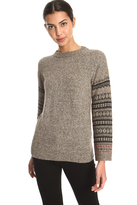 Jacquard sleeve sweater Intrend