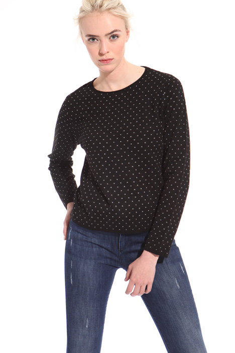 Wool jacquard sweater  Intrend