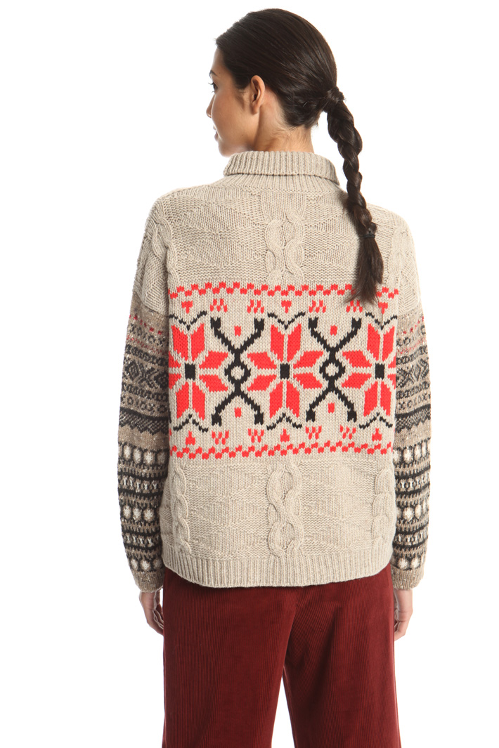 Wool jacquard pullover Intrend