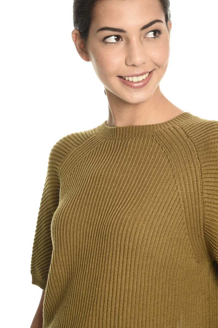 Ribbed boxy sweater  Intrend