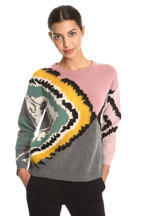 Jacquard wool sweater Intrend