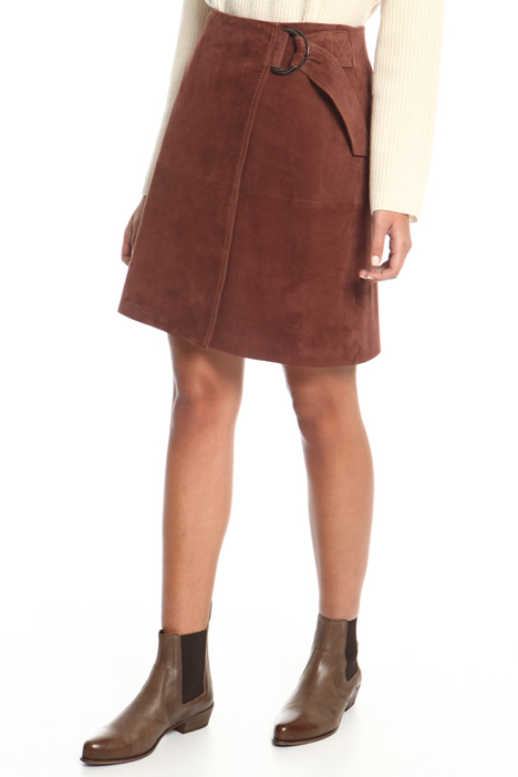 Suede wrap skirt Intrend