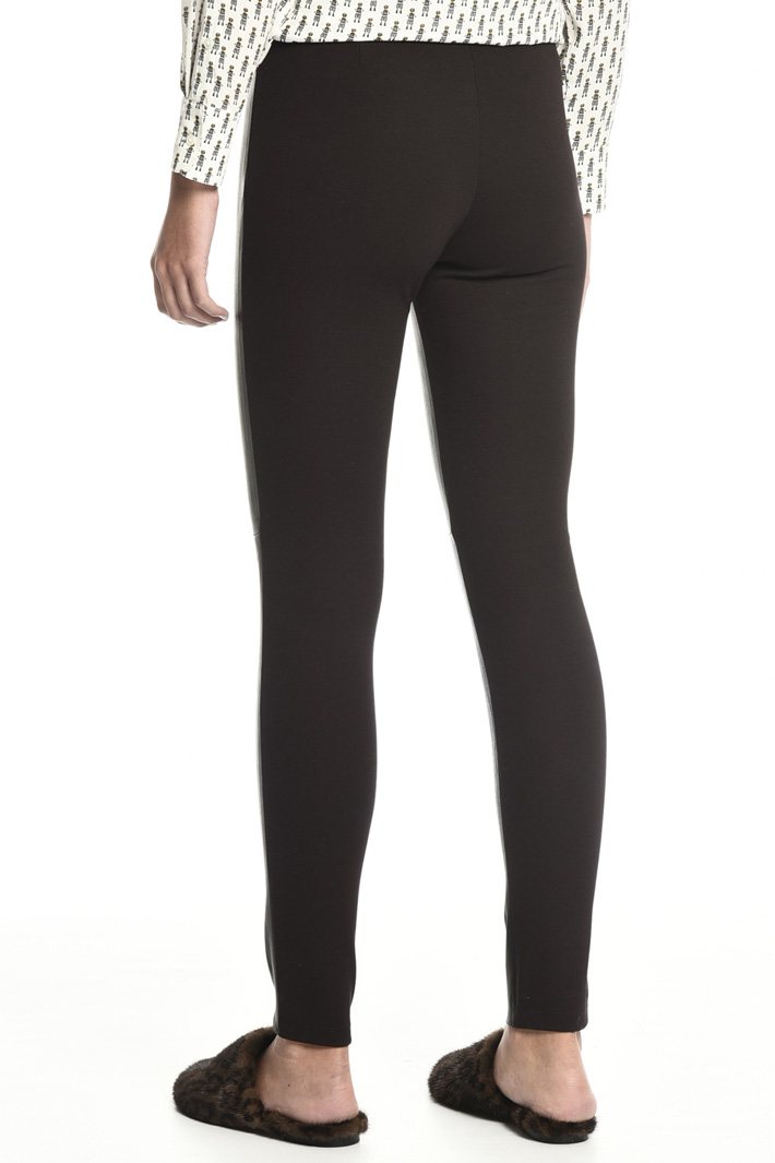 Nappa and jersey leggings Intrend