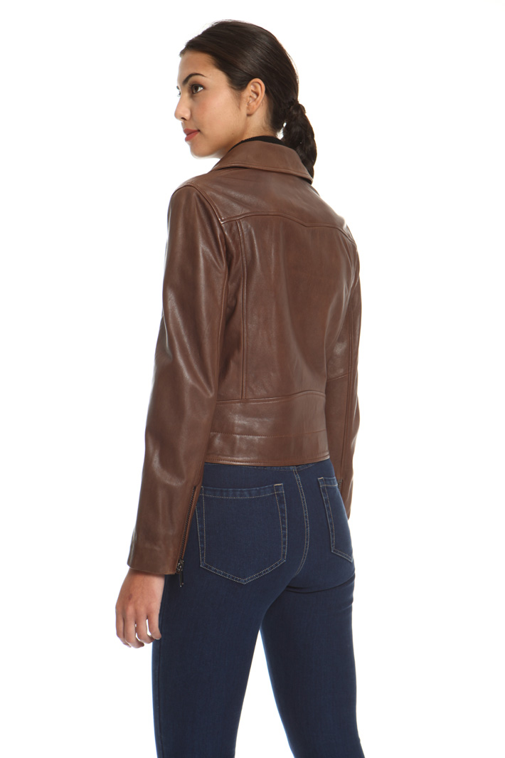 Real leather biker jacket Intrend