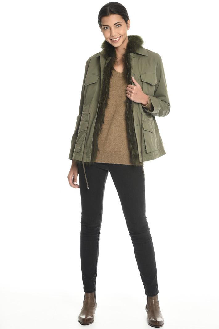Jacket with fur vest  Intrend