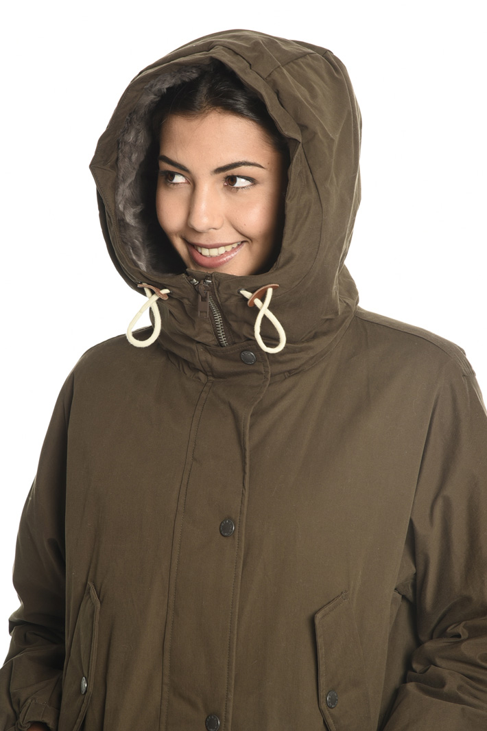Parka with fur pockets Intrend