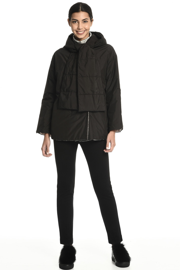 Puffer jacket with stole Intrend