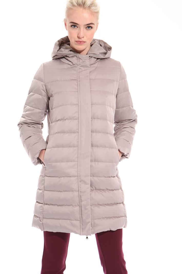 Satin-effect down coat Intrend