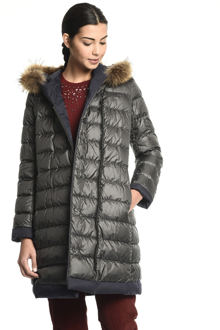 Fur trim puffer coat Intrend