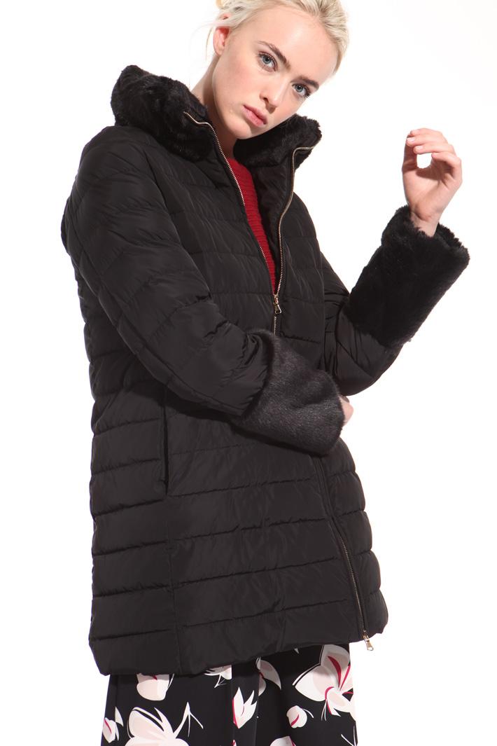 Padded fur collar jacket  Intrend