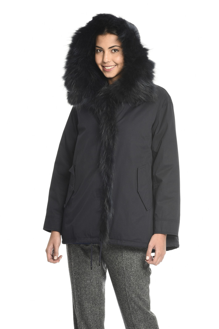 Fur detail jacket   Intrend