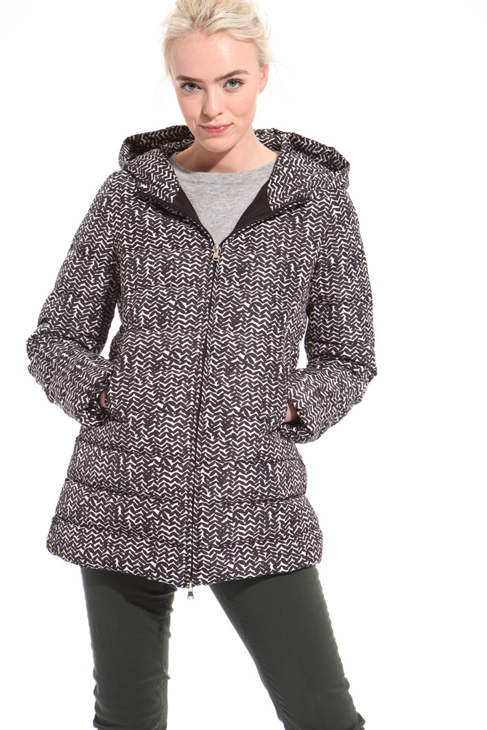 Printed taffeta down jacket  Intrend
