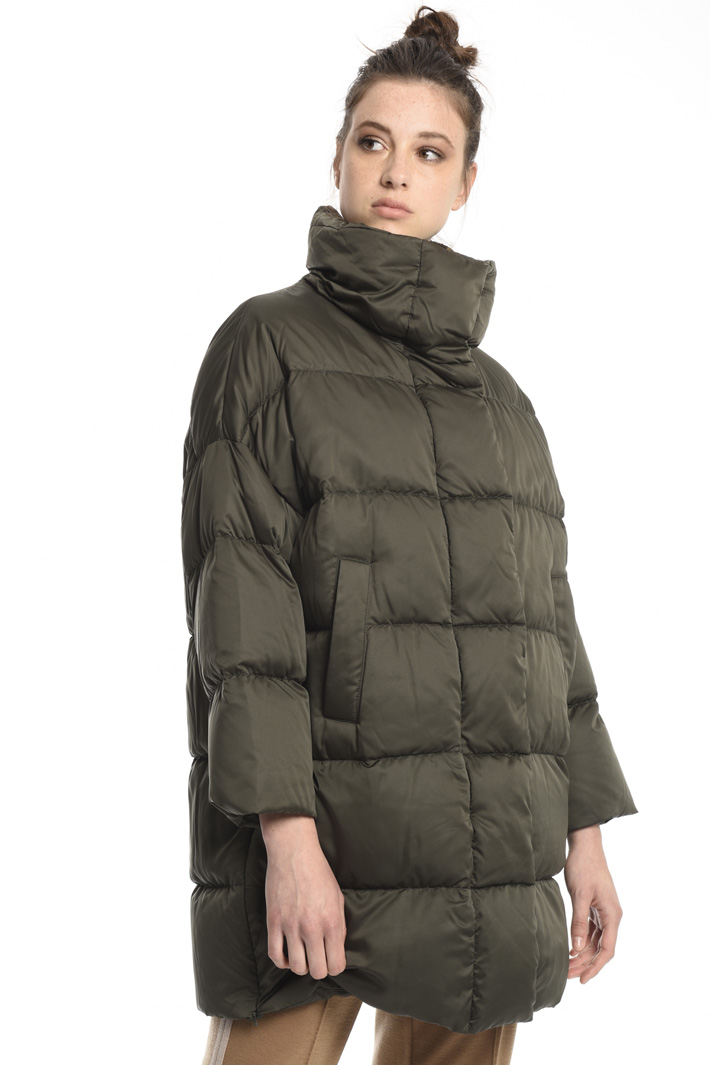 Drip-proof satin down jacket  Intrend
