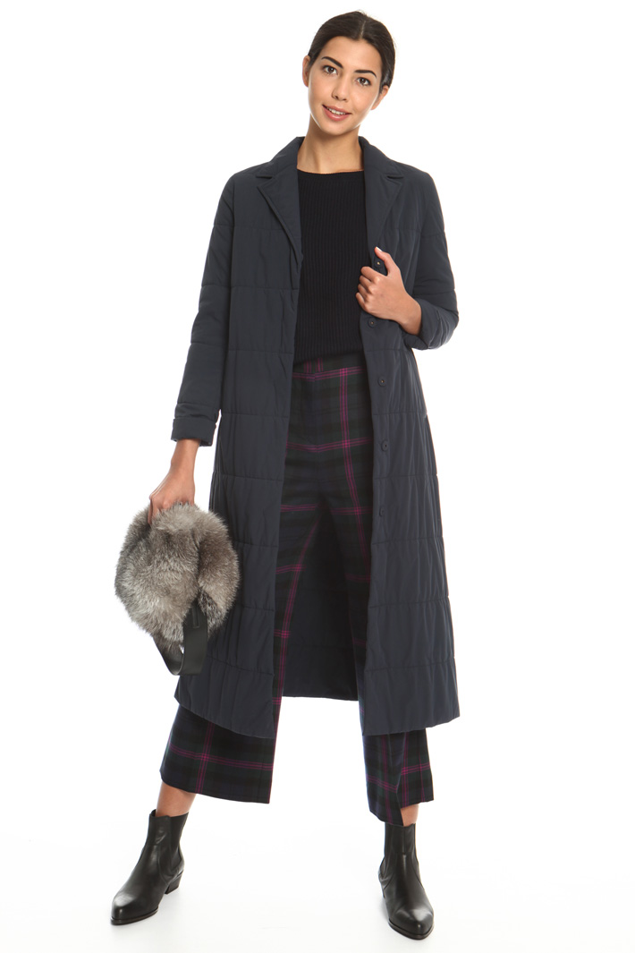 Padded long coat with lapels  Intrend