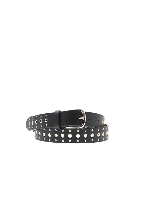 Belt with metal eyelets Intrend