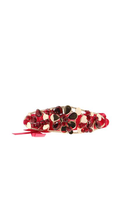 Grosgrain belt with jewel Intrend