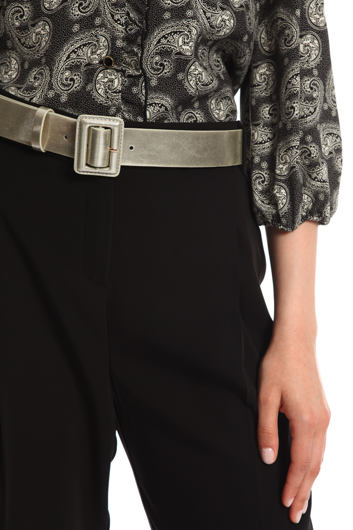 Laminated faux-leather belt  Intrend