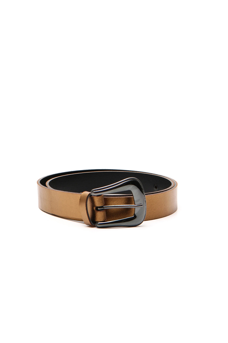 Laminated leather belt Intrend