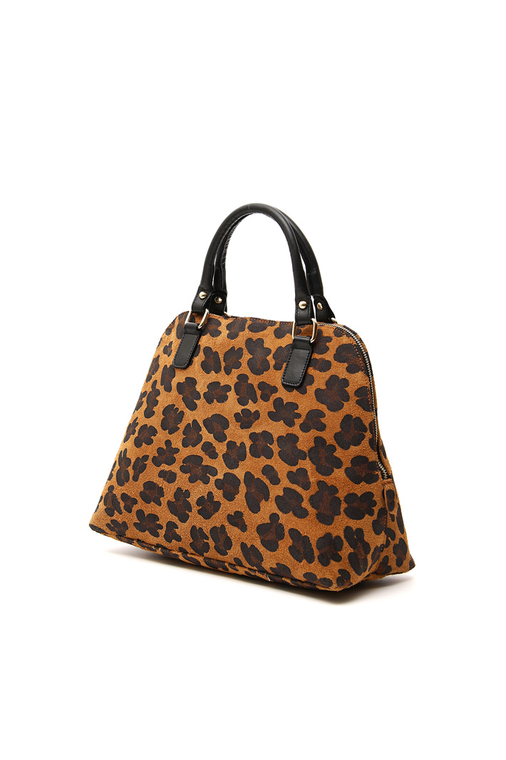 Printed leather bag Intrend
