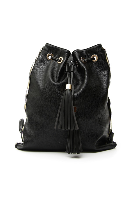 Glossy faux-leather sack Intrend