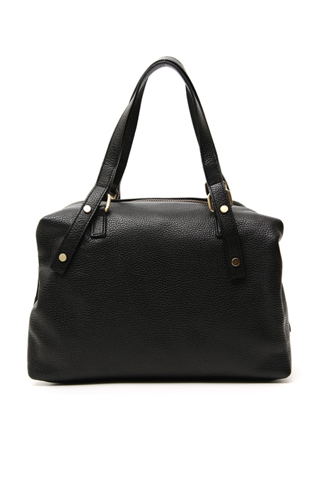 Soft leather Boston bag Intrend