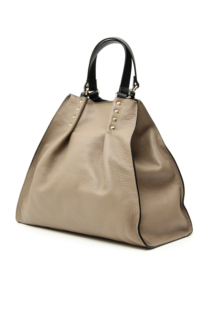 Real leather shopping bag Intrend