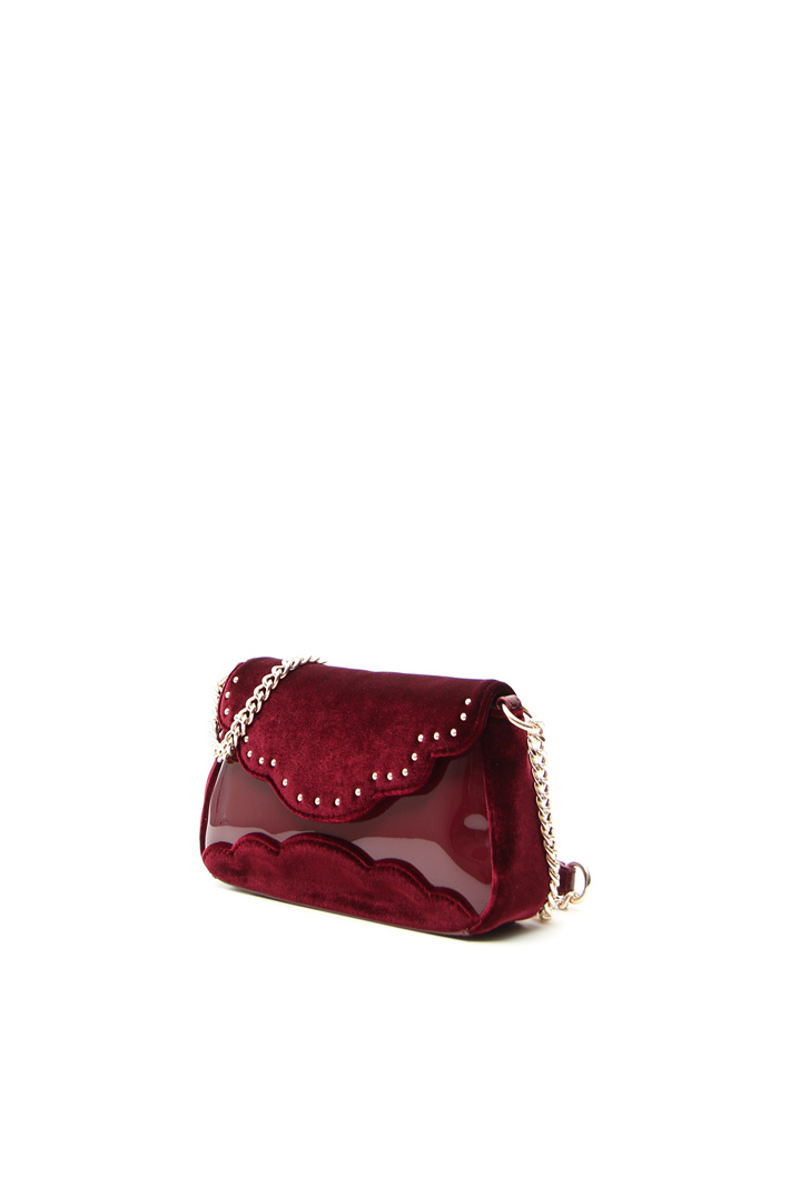 Velvet-effect min bag Intrend