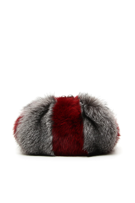 Fox fur hand bag Intrend