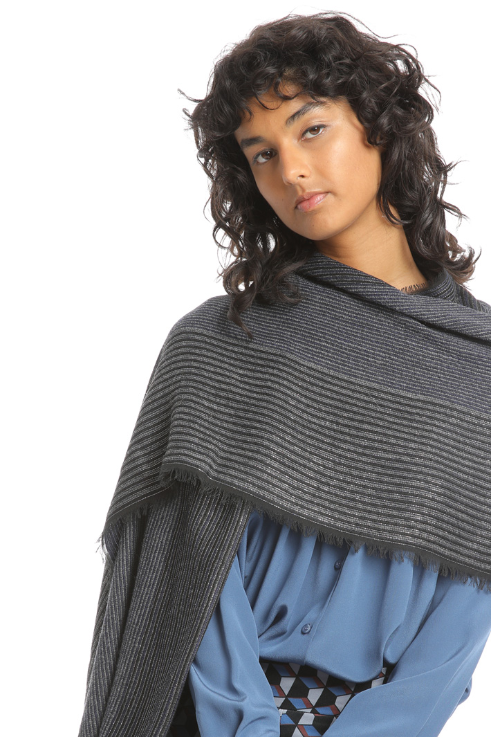 Lurex striped scarf Intrend