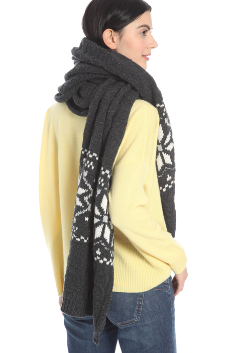 Jacquard wool scarf Intrend