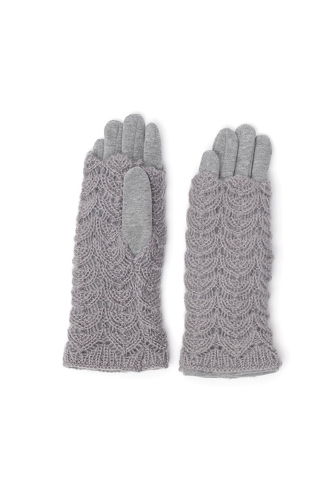 Gloves with knitted inserts Intrend