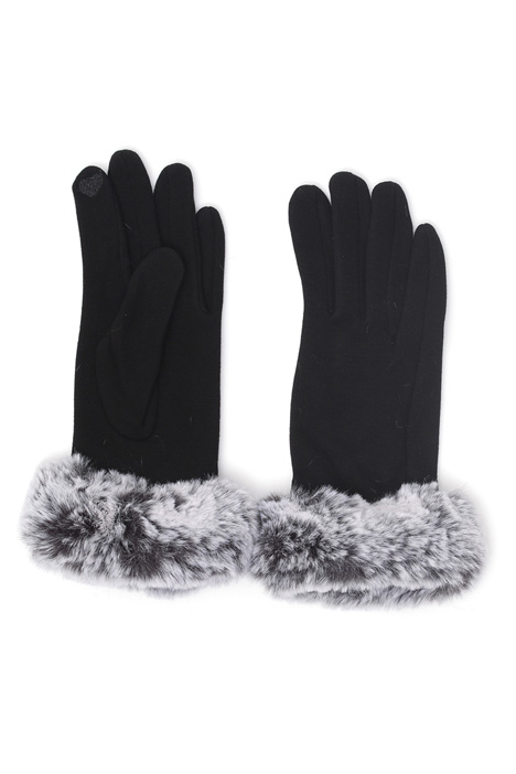 Fur effect cuff gloves Intrend