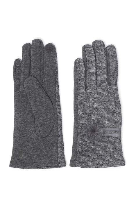 Gloves with mink detail Intrend