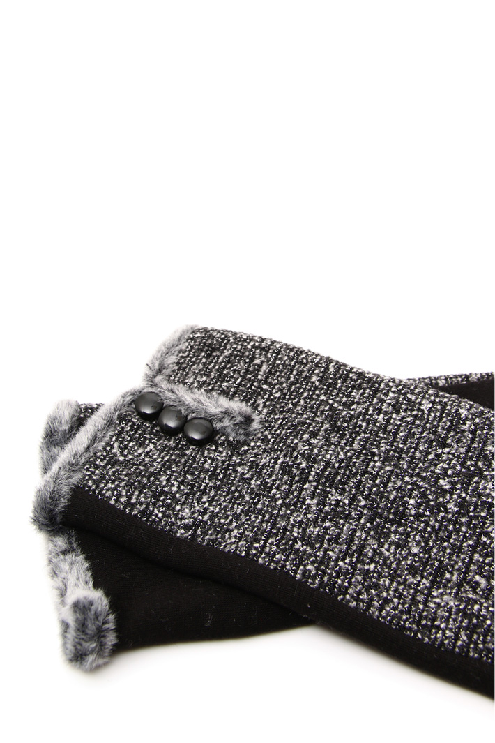 Gloves with bouclé panel Intrend