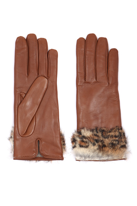 Gloves with fur trim  Intrend