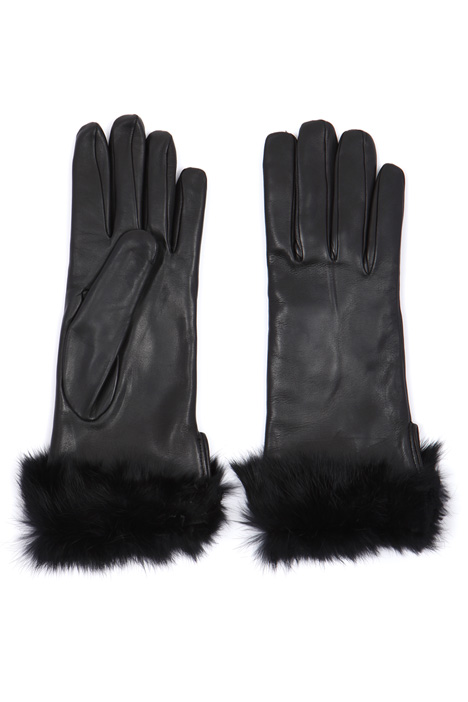 Gloves with fur cuffs  Intrend