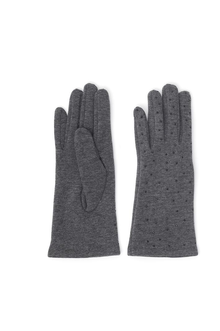 Rhinestone jersey gloves Intrend
