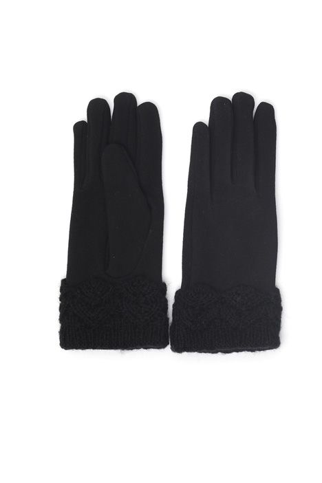 Gloves with knitted cuffs Intrend