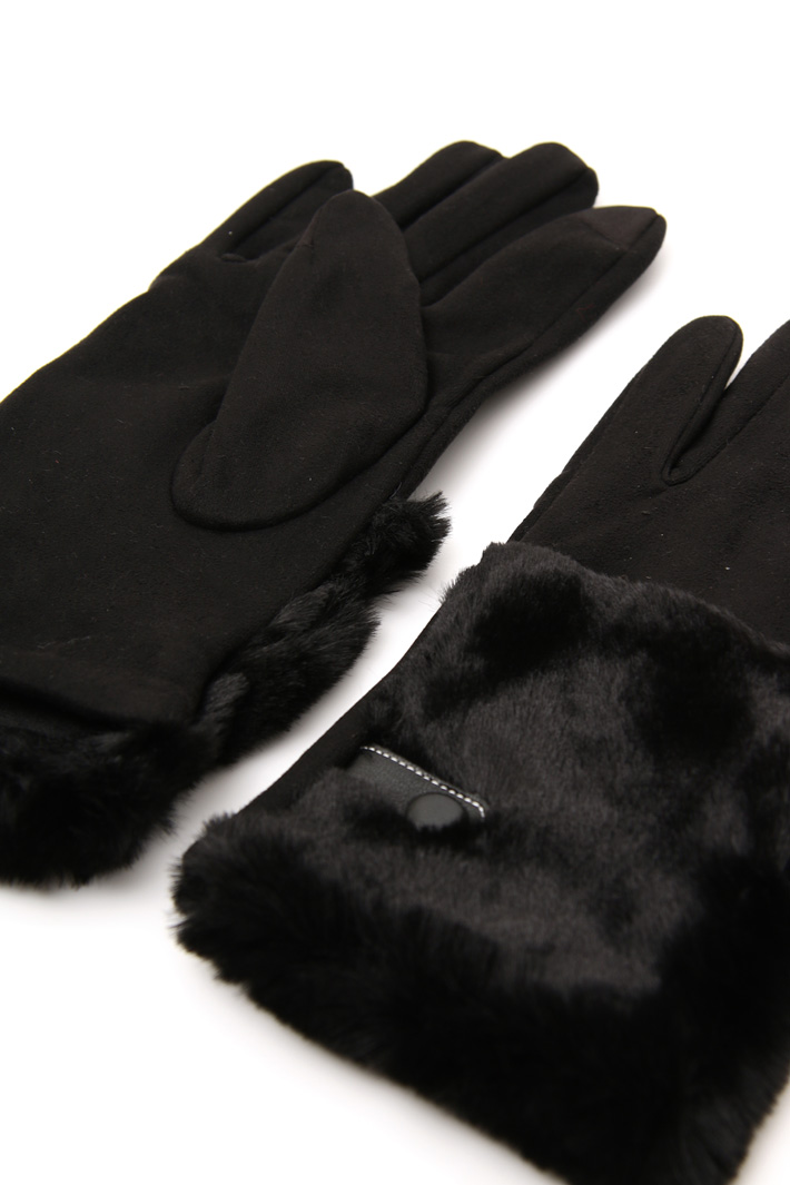 Gloves with fur insert Intrend