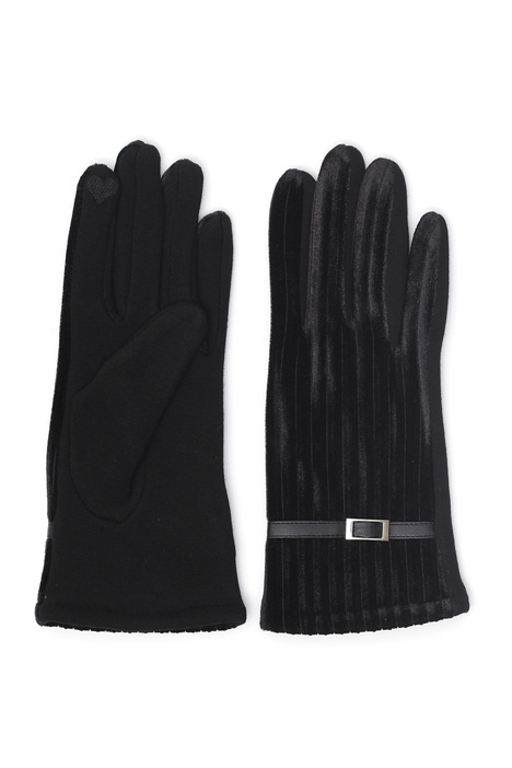 Gloves with chenille inserts Intrend