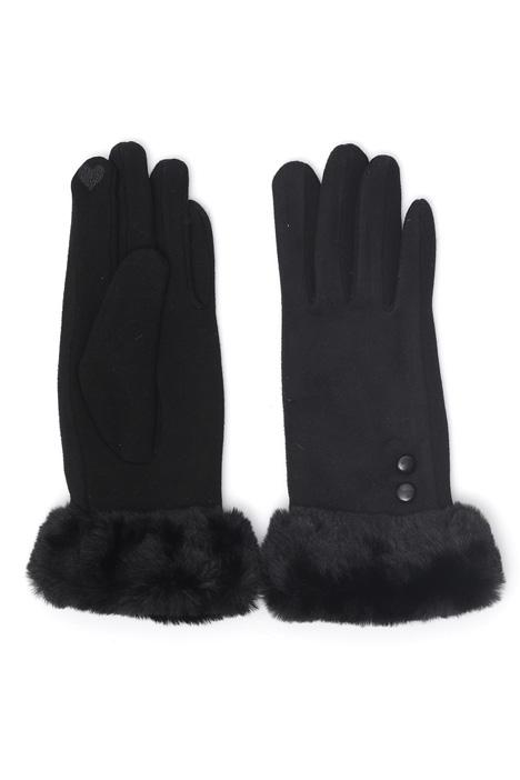 Fur effect cuff gloves Intrend