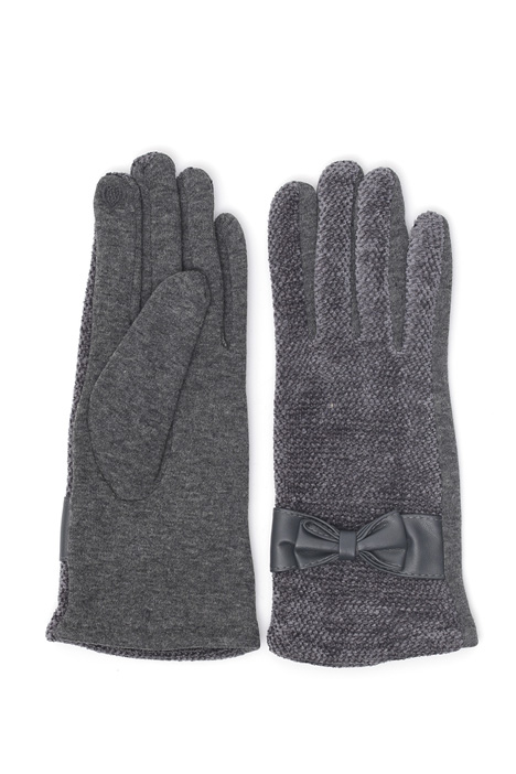 Jersey and chenille gloves Intrend