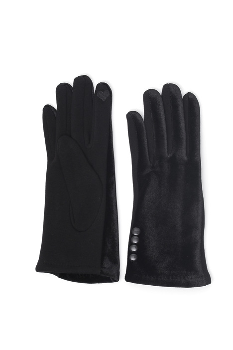 Chenille and jersey gloves Intrend