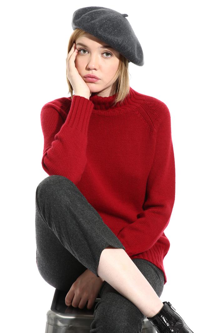 Lurex wool flat hat Intrend