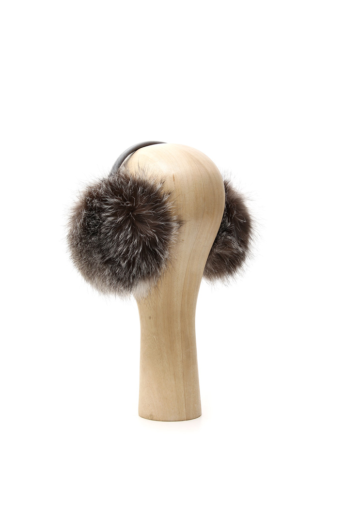 Fox fur ear muffs Intrend